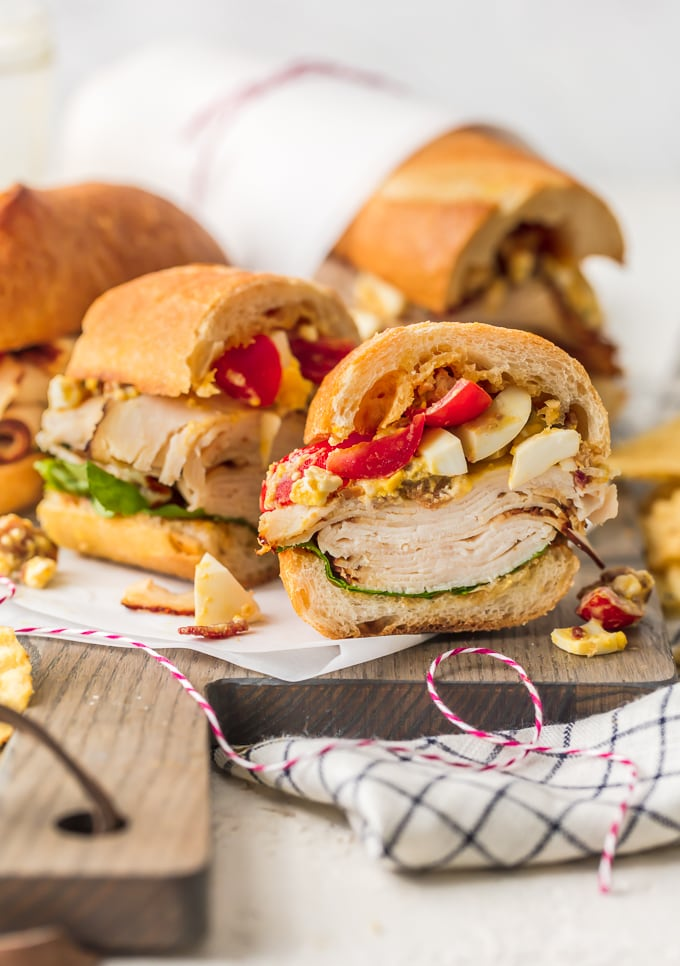 Teriyaki Chicken Cobb Salad Sub Sandwich