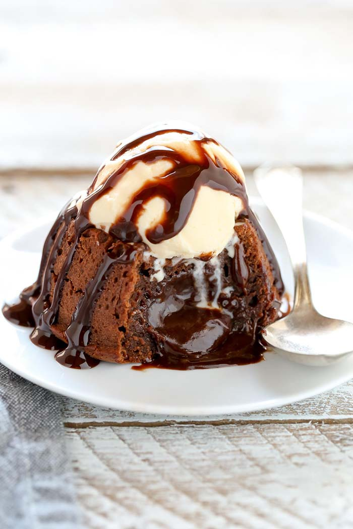 Molten Chocolate Lava Cake for Two | Live Well Bake Often