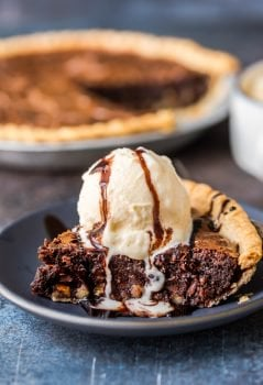 Brownie Pie is a rich, chocolaty dessert that's almost too good to be true! A homemade fudge brownie recipe baked straight into a pie crust gives you two desserts in one.