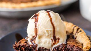 Fudge Brownie Pie Recipe