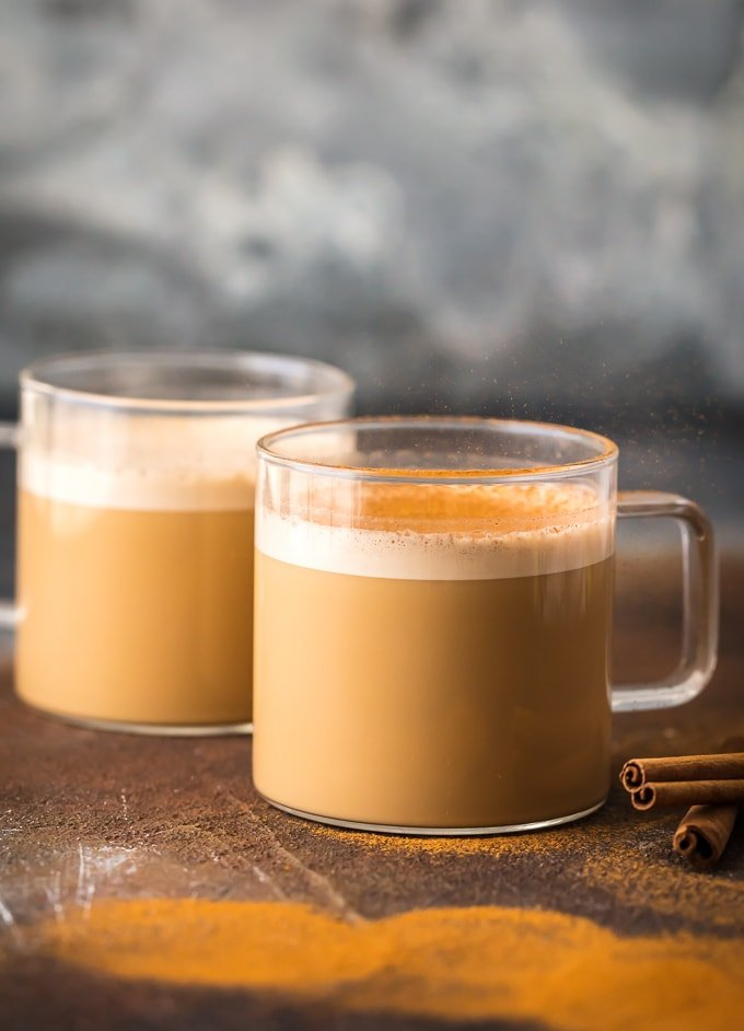 Bulletproof coffee with cinnamon
