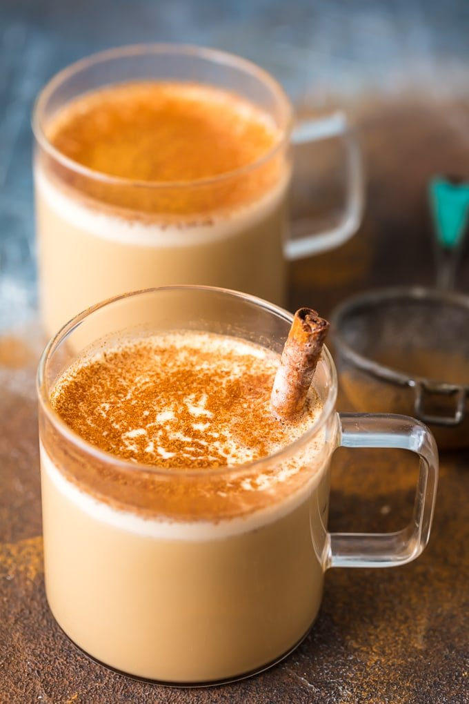 Cinnamon coffee made with butter