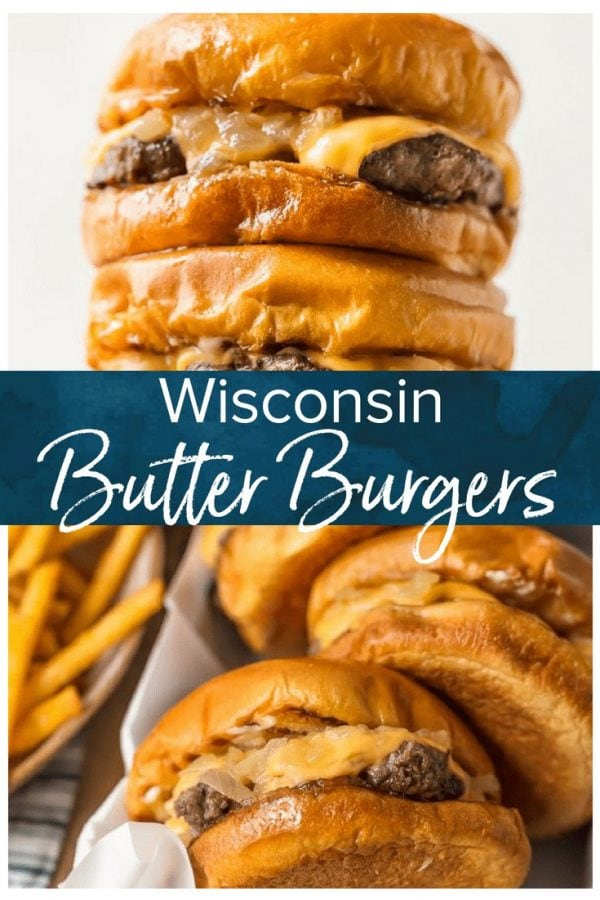 winconsin butter burgers pinterest collage