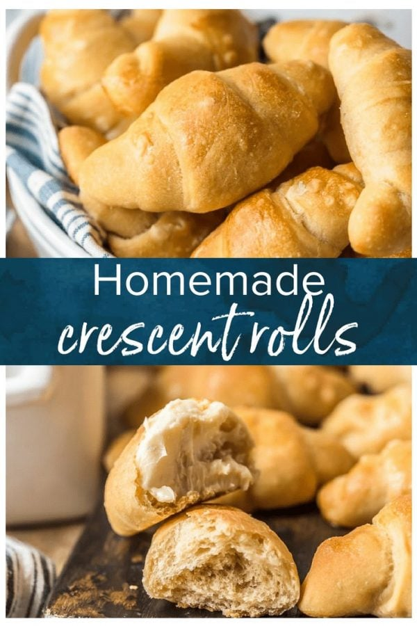 Homemade Crescent Rolls are soft, flaky, buttery & oh so delicious! Make this crescent roll recipe for every holiday meal, or for any dinner that needs something extra