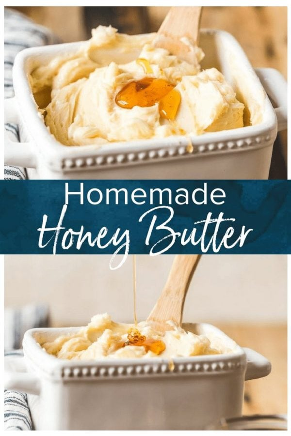 This homemade Honey Butter recipe is simple and sweet. Learn how to make honey butter for all your favorite breads, from croissants to crescent rolls to biscuits!
