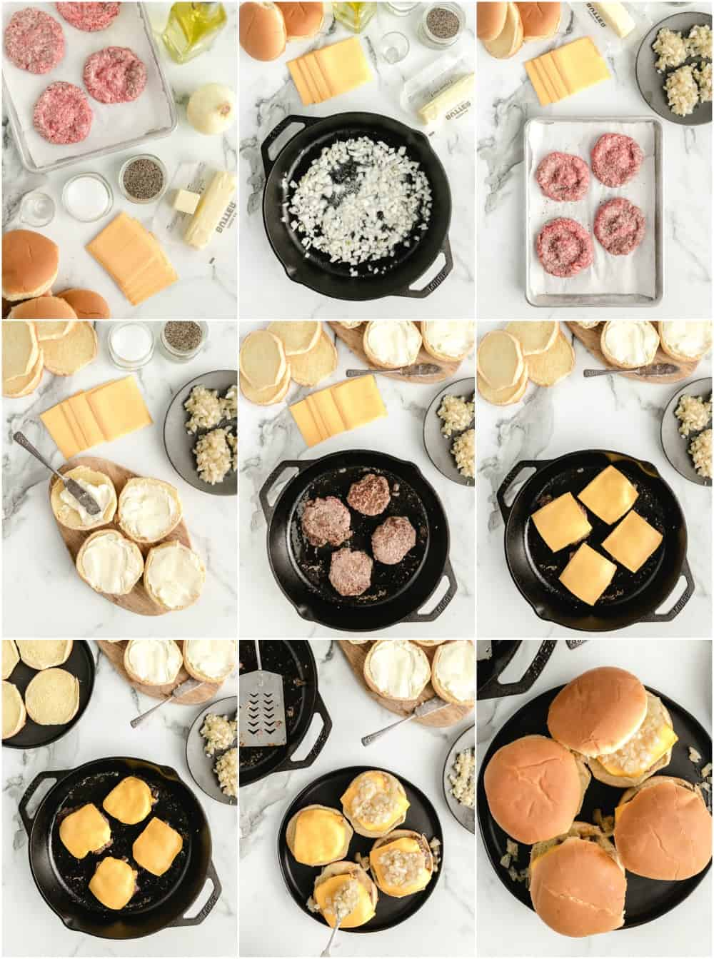 how to make butter burgers step by step process shots