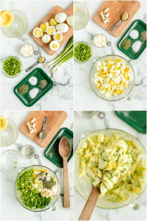 how to make egg salad step by step photos