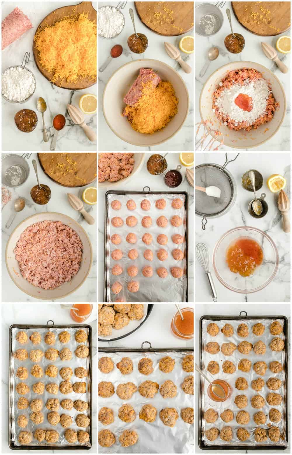 how to make bisquick sausage balls: step by step photos of making sausage balls