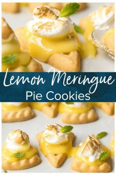 These lemon meringue cookies are a fun, bite-sized version of lemon meringue pie! These easy lemon meringue pie tarts are the perfect dessert to serve at parties!