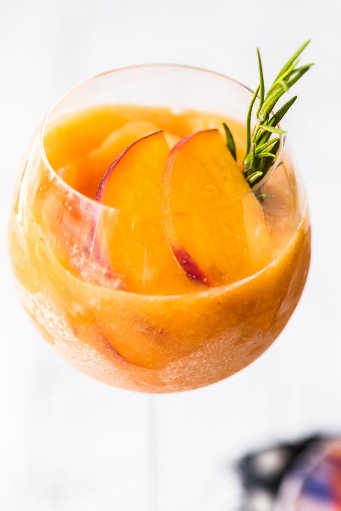 Up close shot of peach frose