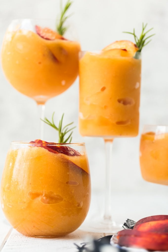 Peach Frose Recipe with peaches and rosemary