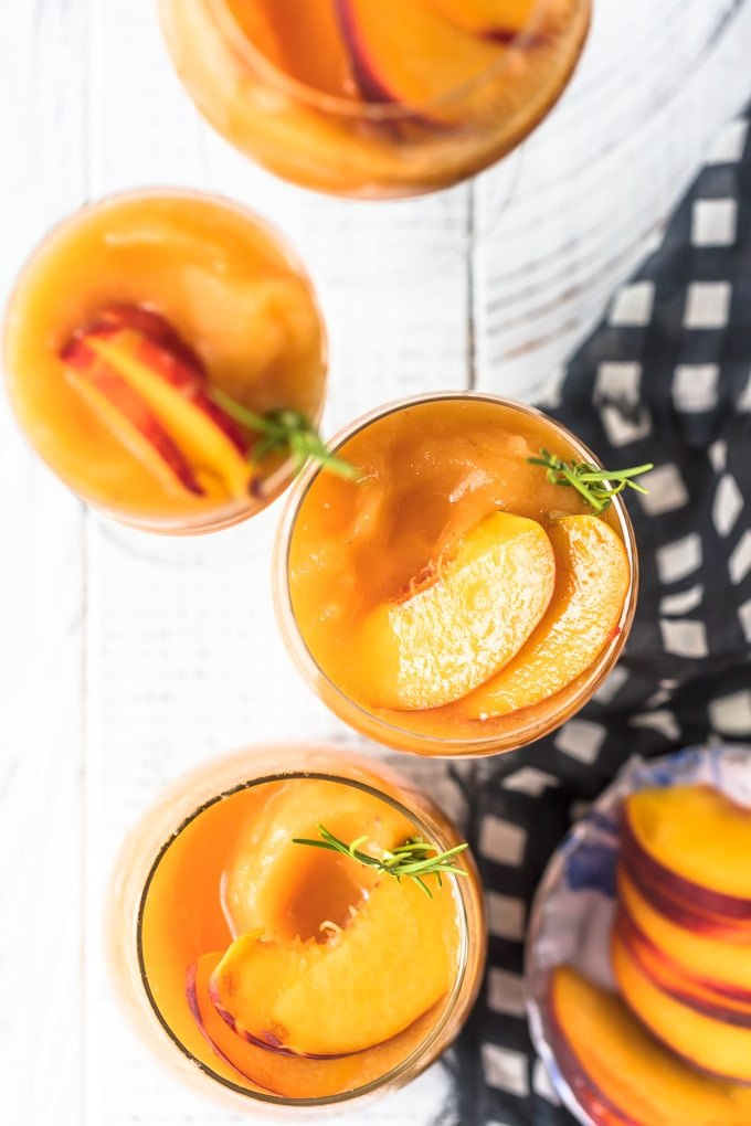 Overhead shot of Peach Frose Recipe