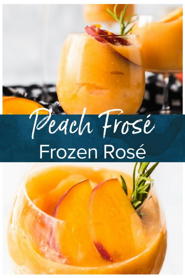 This Peach Frosé Recipe is a cocktail you definitely need for this hot Summer heat! All you need is frozen peaches, some Rosé wine, and a little honey. Frozen Rose is such a quick and easy fun cold drink to throw together for parties, friends and family, or just a quiet afternoon at home. We will show you how to make Frose and spice things up with this Peach Frose Recipe. So delicious, easy, fresh, and fun