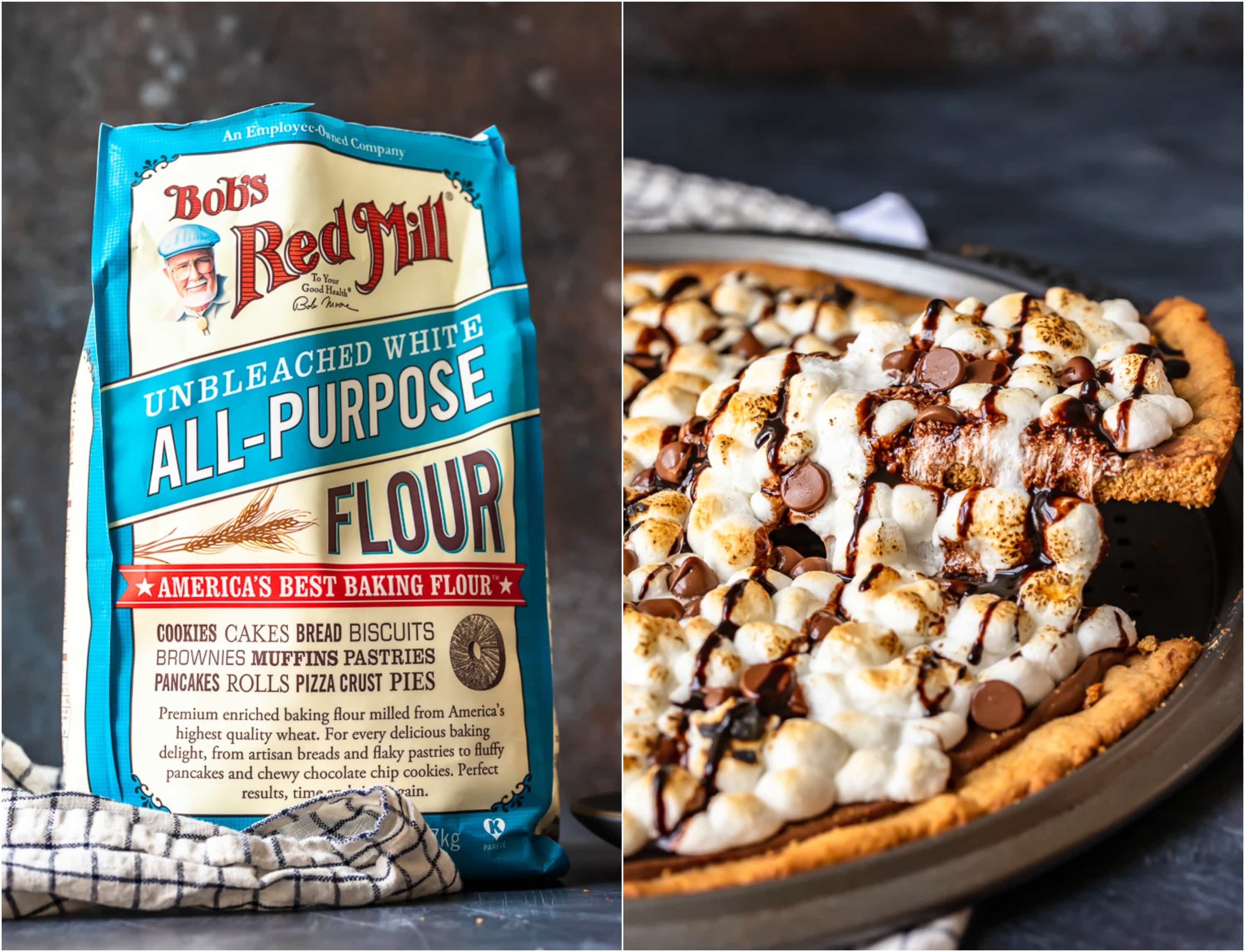 bob's red mill flour and smore pizza