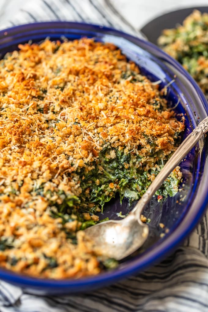 Creamed Spinach side dish