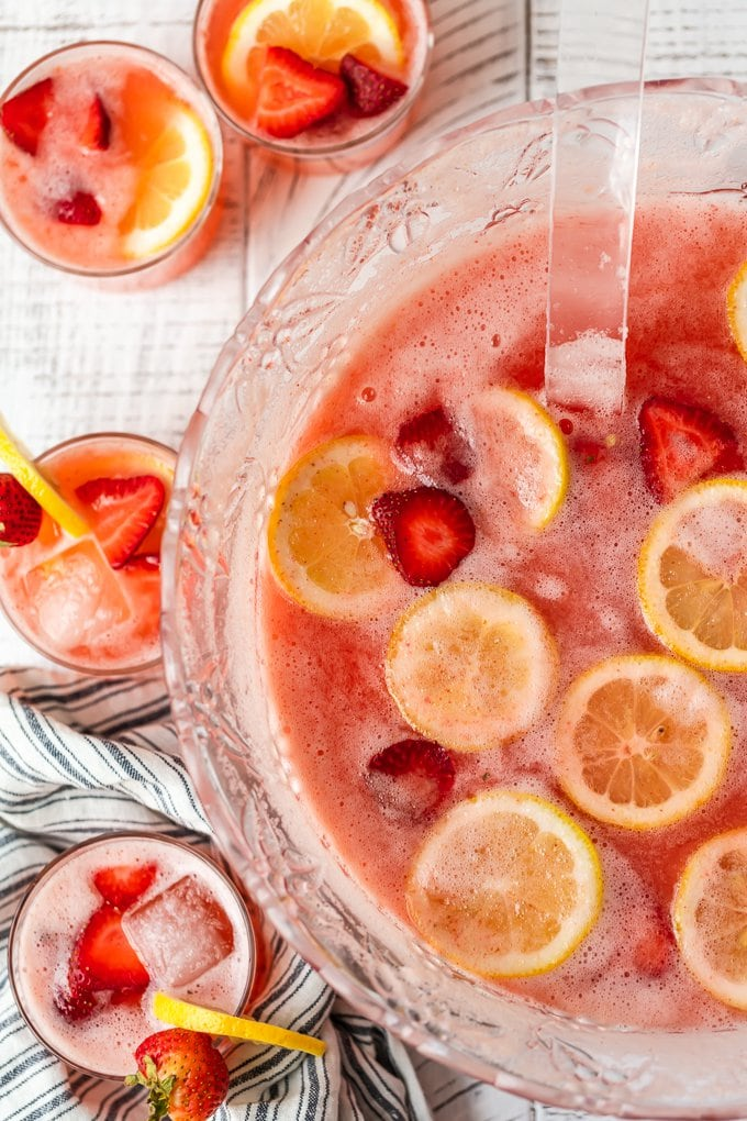 Strawberry Lemonade Party Punch recipe