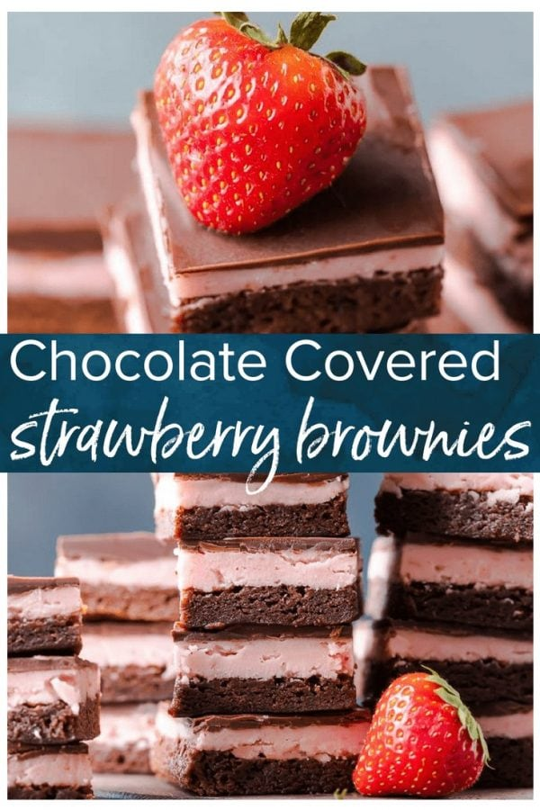 Covered Strawberry Brownie Recipe is a mix of soft chocolate-y brownie, creamy strawberry filling, & a layer of melted chocolate.