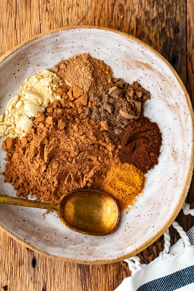 Homemade Pumpkin Pie Spice recipe in a bowl