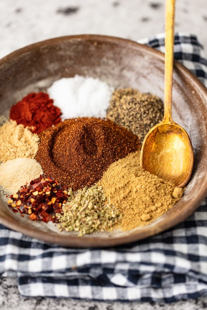 Homemade Taco Seasoning recipe in a bowl