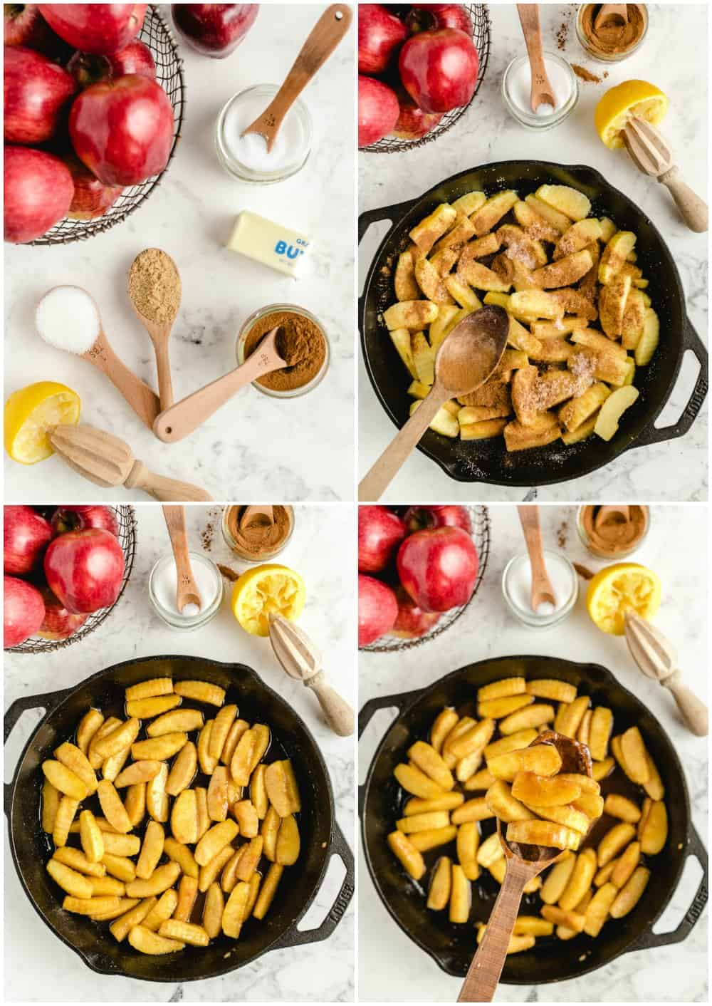 step by step photos of how to make fried apples
