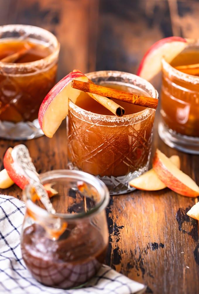 apple cocktails in glasses