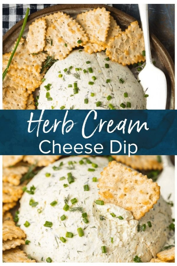 Herb Cream Cheese Dip is a simple yet delicious dip that's perfect for any party or any occasion. Serve it with crackers and guests will devour it! This Herb Coeur a la Creme recipe is savory, tasty, and super easy. There are so many uses for outside of dipping, you will be amazed!
