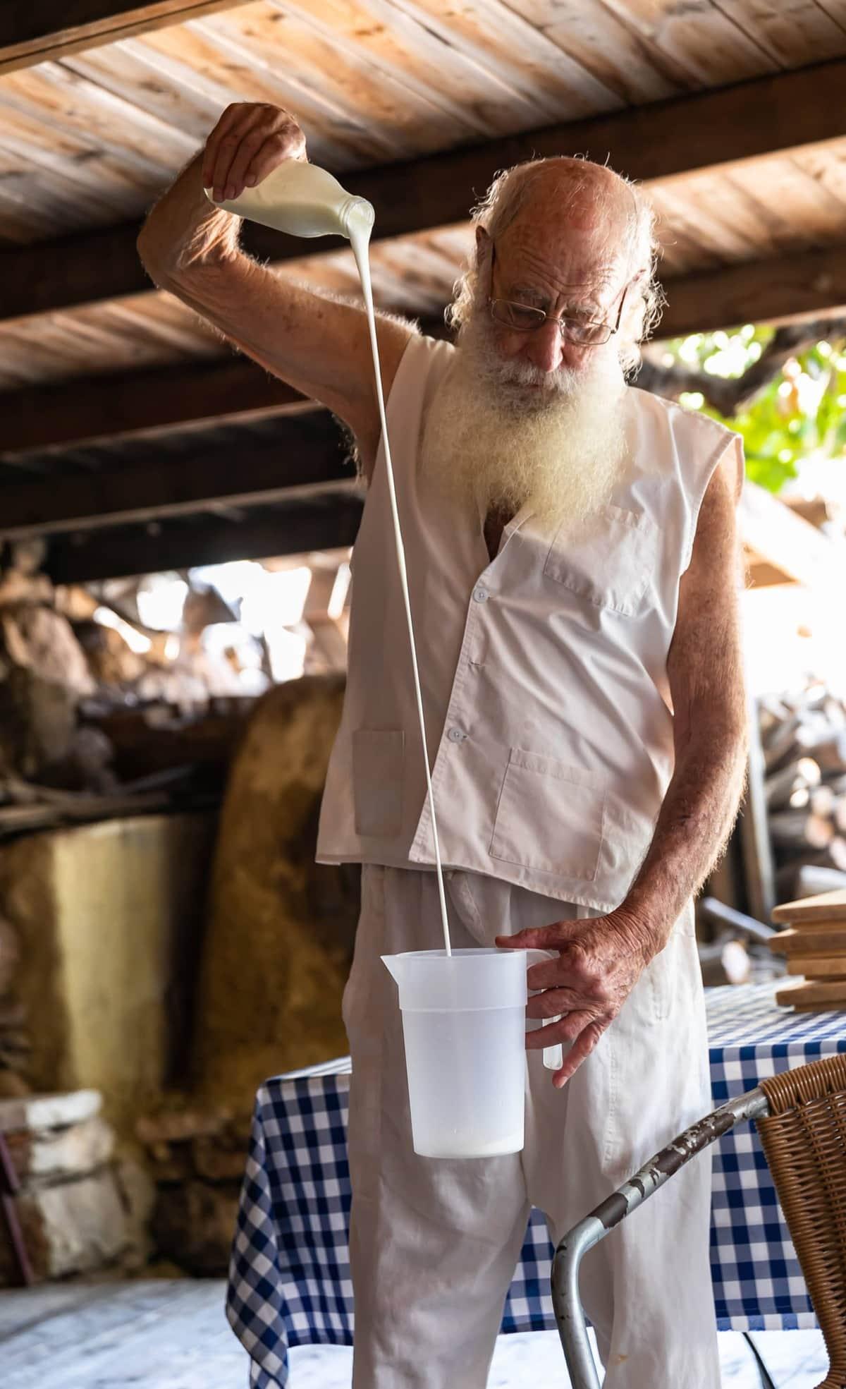 pouring yogurt in israel