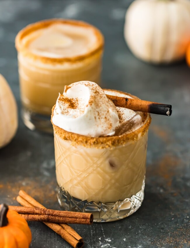 This Pumpkin Spice White Russian Cocktail is exactly what you need to be sipping on this season. This festive fall cocktail brings the perfect pumpkin flavor to a classic White Russian with the addition of pumpkin spice creamer. It's so creamy, dreamy, and delicious! You have to try this pumpkin cocktail for yourself.