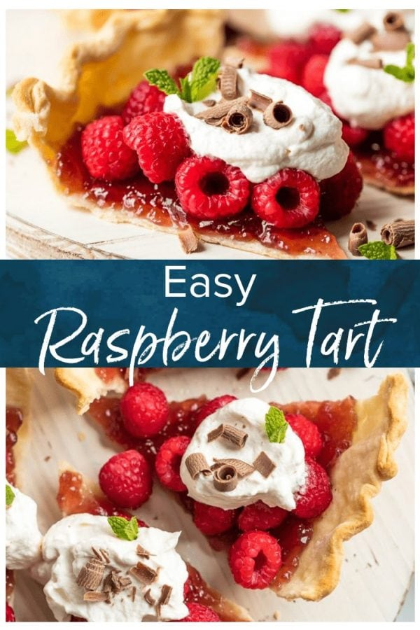 This easy Raspberry Tart recipe is going to change your life! Use this amazing raspberry pie hack to make a simple, delicious, beautiful dessert that you can prepare for guests in no time. It's just as tasty as a traditional pie, but with a lot less hassle. Make this raspberry dessert, or make a version with blueberries, blackberries, or strawberries.
