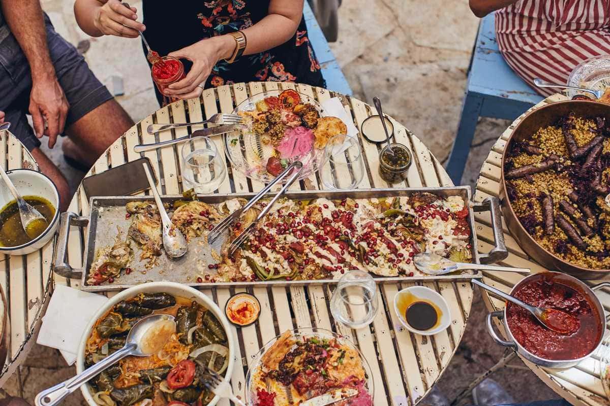 spread of food in Israel