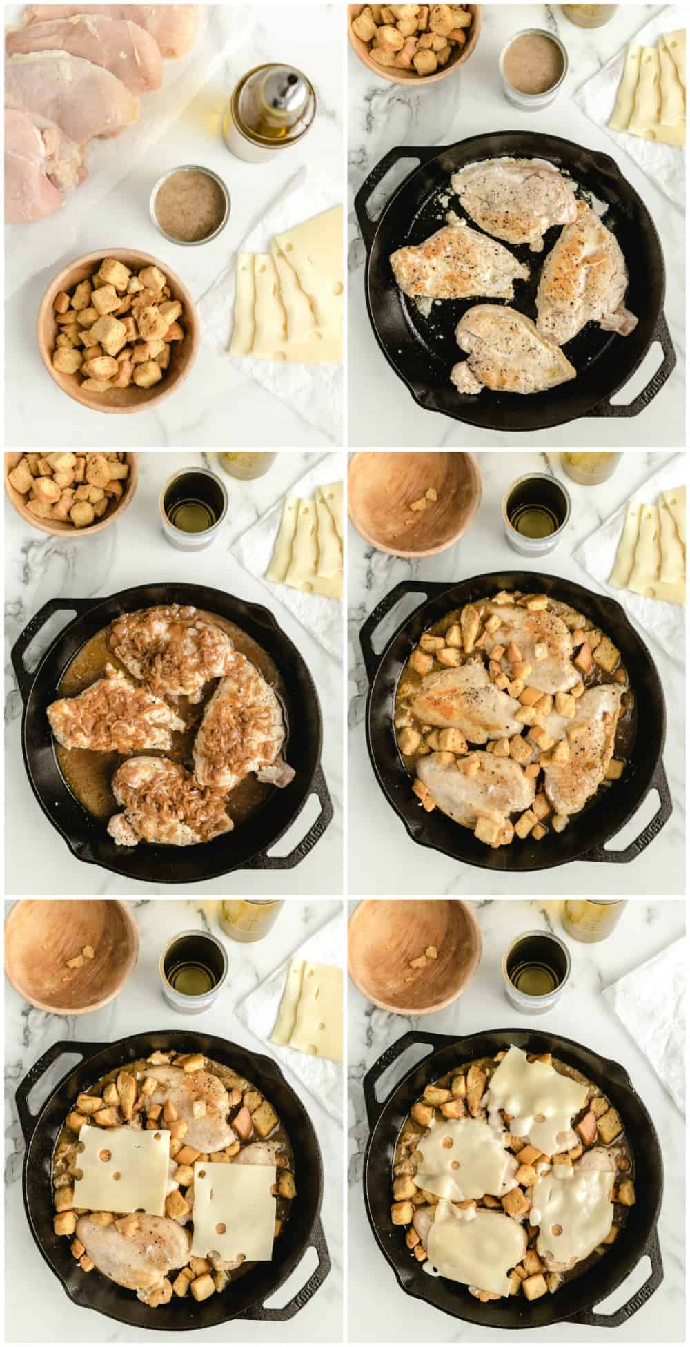 how to make french onion chicken step by step photos