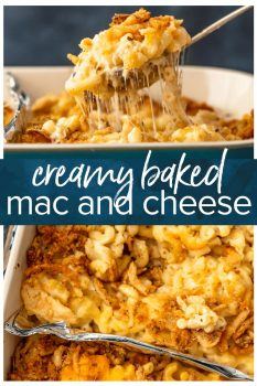 baked mac and cheese pinterest collage