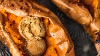 The PERFECT Baked Sweet Potato (with Cinnamon Sugar)