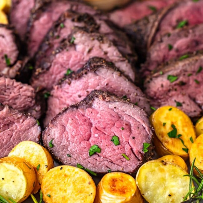 Beef Tenderloin is one of the best cuts of meat, so it deserves to be cooked right. This beef tenderloin roast is perfectly cooked and full of flavor. Learn how to cook beef tenderloin for an amazing main course dish to serve on the holidays or special occasions. This is the BEST beef tenderloin recipe, just wait and see!