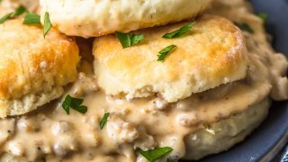 Homemade Sausage Gravy & Biscuits