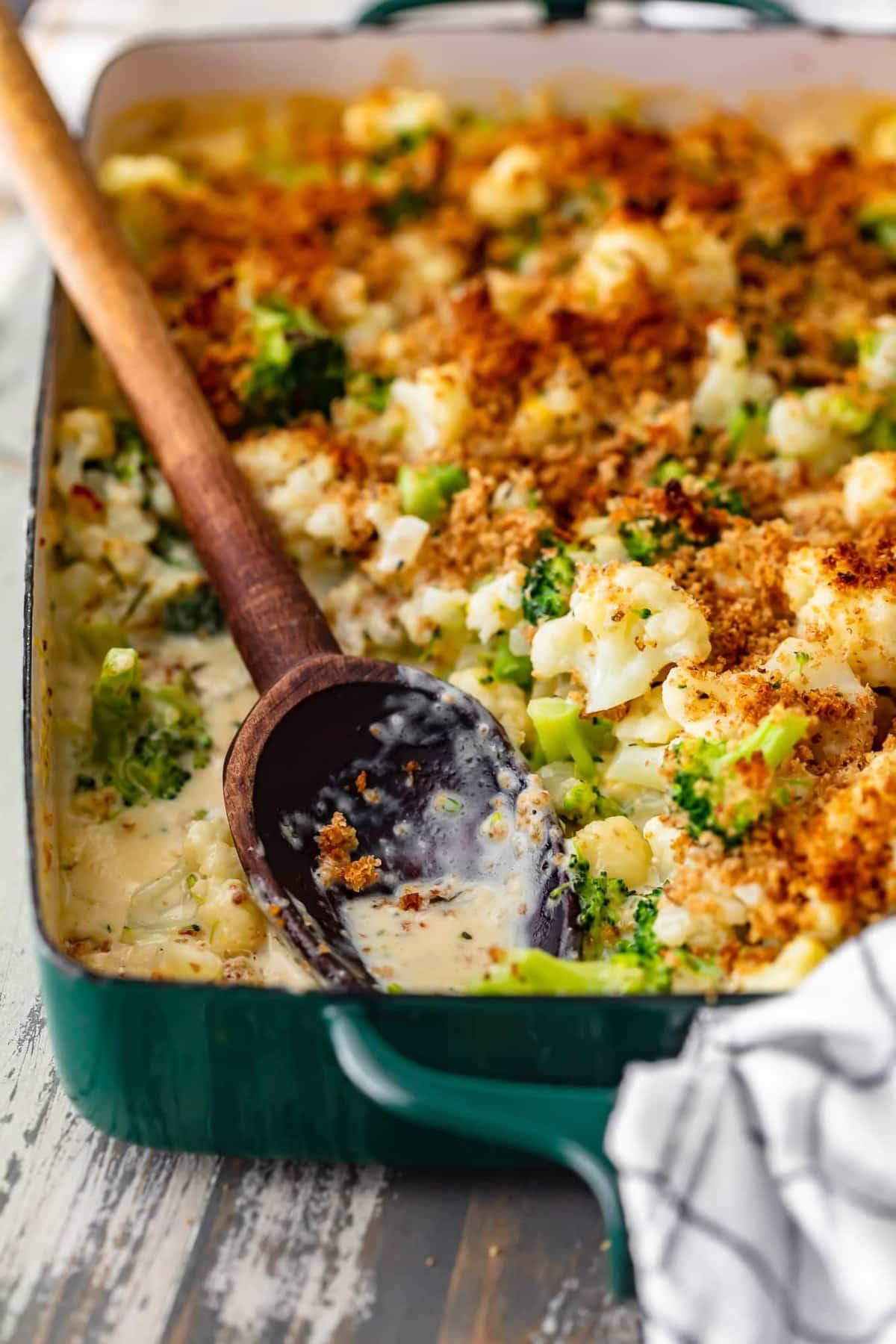 Cheesy Broccoli and Cauliflower Gratin Recipe