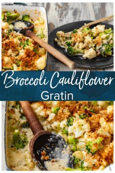 Cauliflower Gratin is an easy side dish you're sure to love! This Cheesy Broccoli Cauliflower Recipe is absolutely delicious. Be sure to add Cauliflower Broccoli au Gratin to your holiday table!