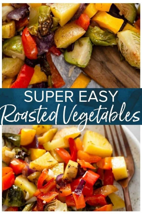easy roasted vegetables pinterest pic