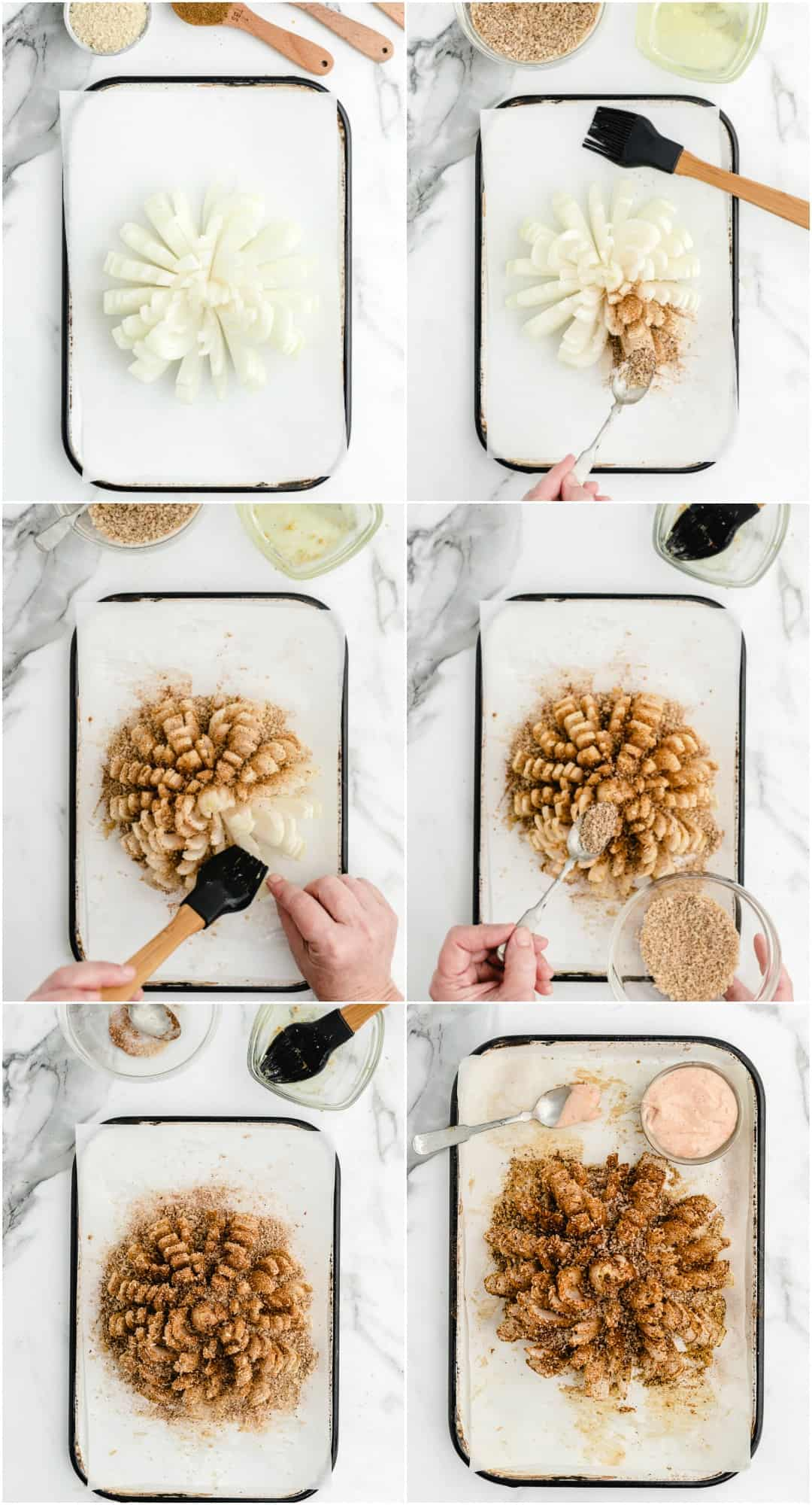 how to make blooming onion step by step photos