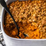 Pumpkin Pie Crumble is the perfect fall dessert recipe. Even better, this easy crumble recipe is sugar free! Make this tasty sugar free dessert for Thanksgiving and beyond!