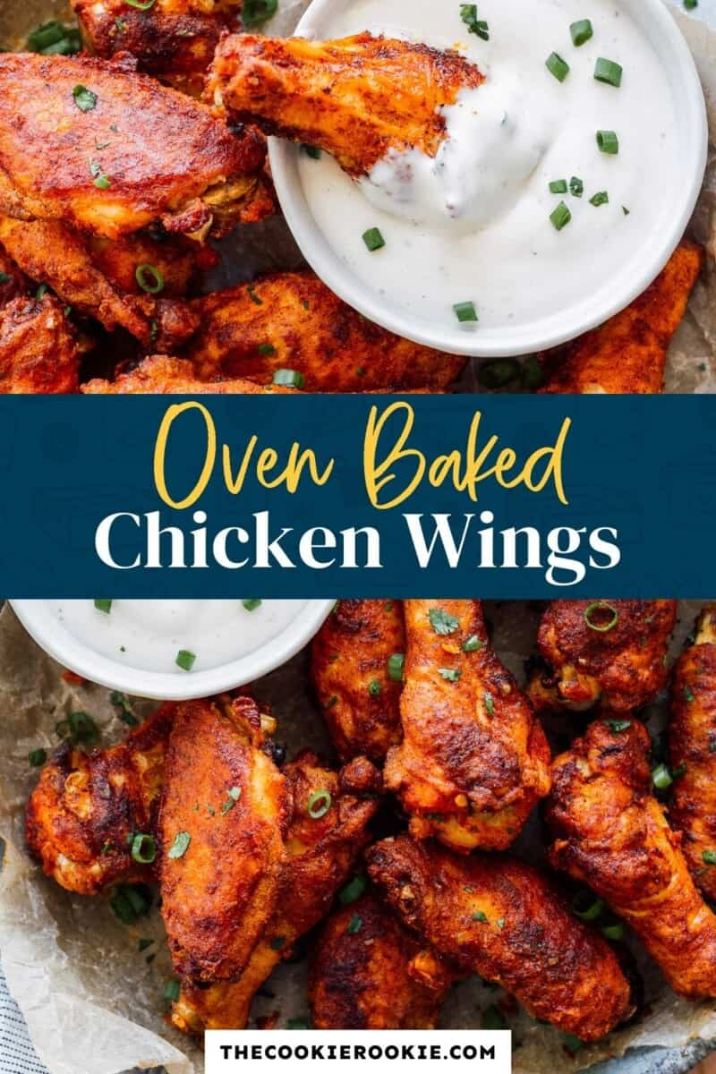 baked chicken wings pinterest collage