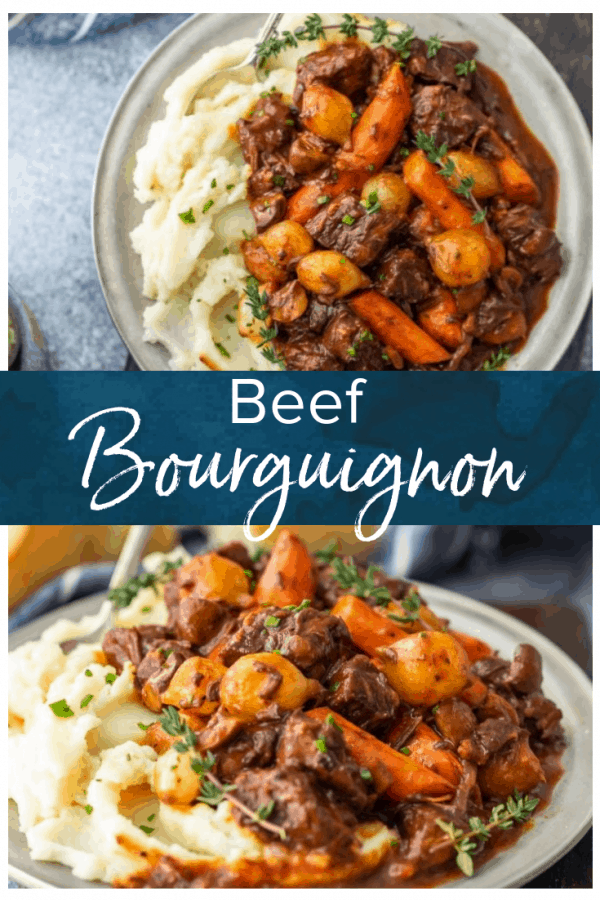 Beef Bourguignon is a delicious beef stew that's perfect for winter meals. Also known as beef burgundy or boeuf bourguignon, this dish is hearty & filling.