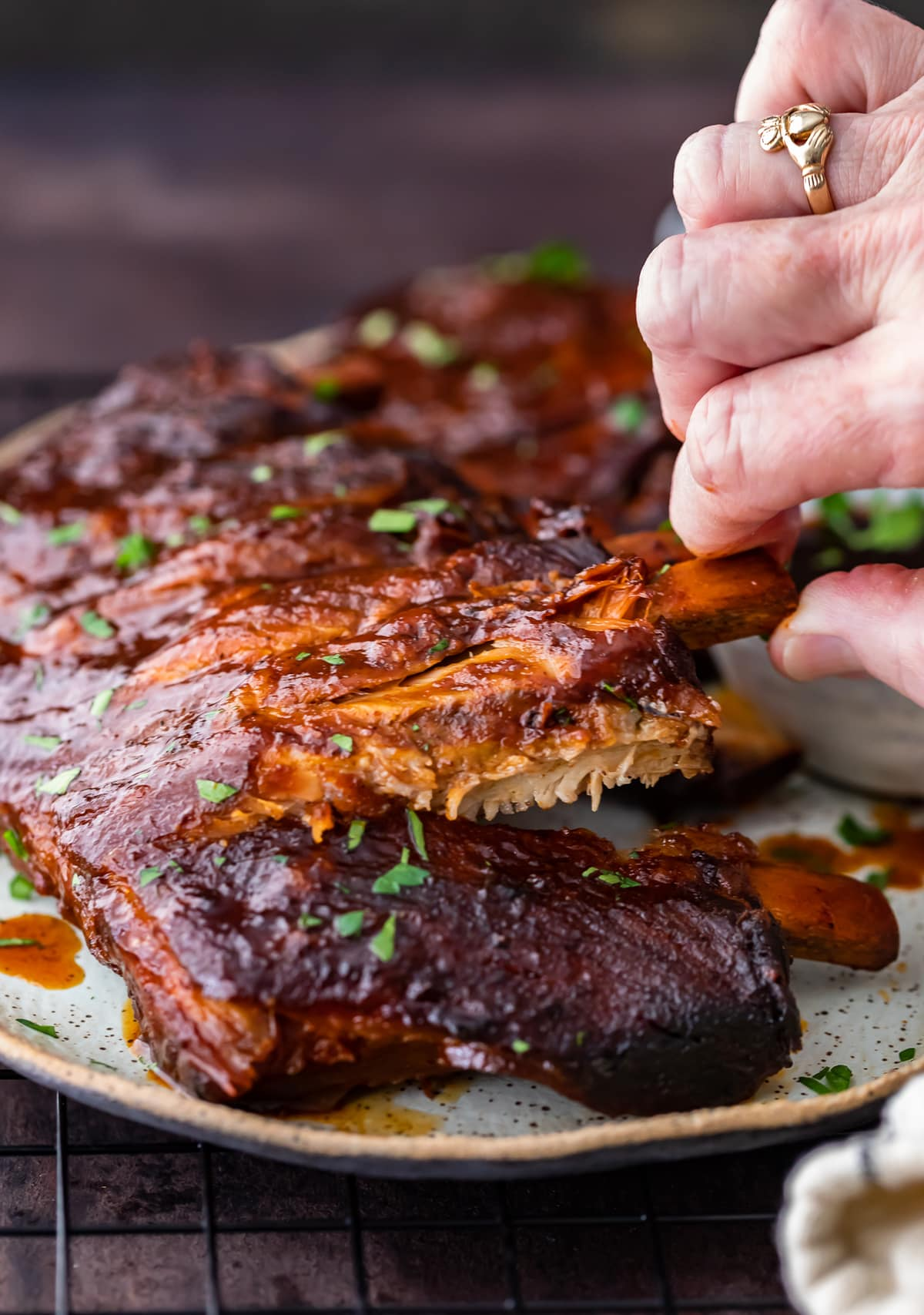 bbq ribs in a plate