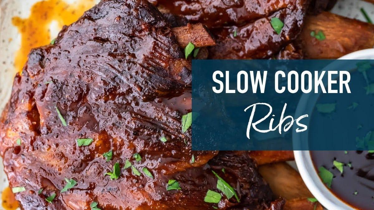 Easy Crock Pot Ribs Recipe Best Slow Cooker Bbq Ribs Video
