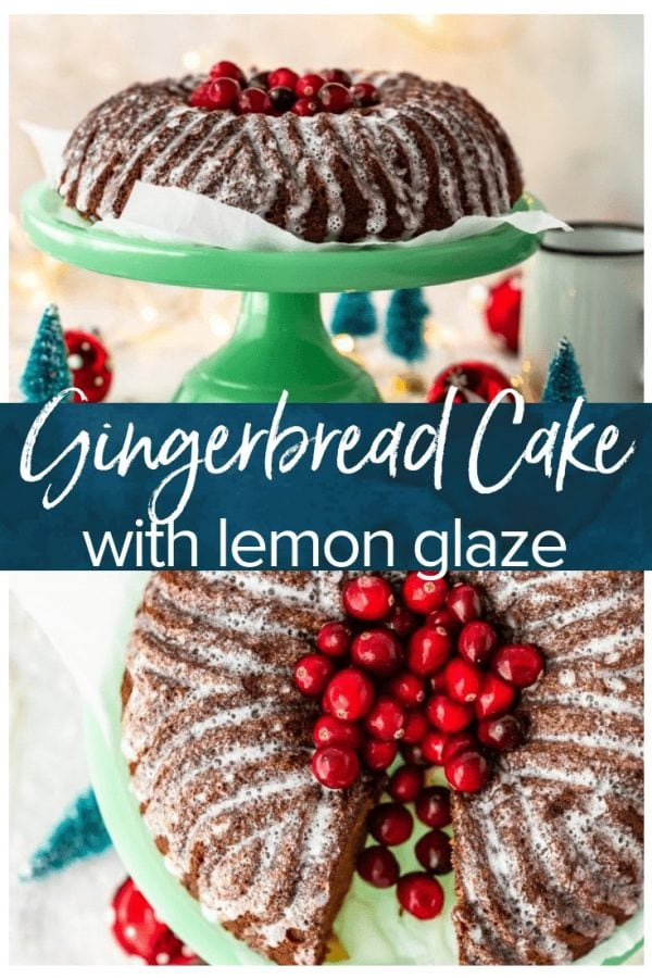 Gingerbread loaf is a must make this holiday season! Nothing says Christmas like gingerbread, so this delightful Gingerbread Cake recipe is exactly what you need. Top this tasty Christmas dessert with a lemon glaze to finish it off!
