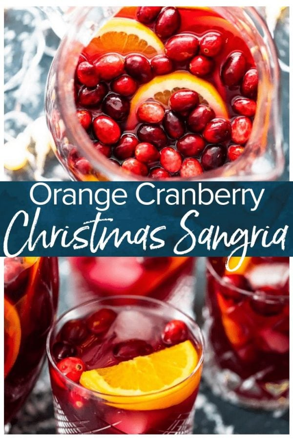Orange Cranberry Sangria is fresh, fun, and festive. This Christmas Sangria recipe is just perfect for the holiday season!