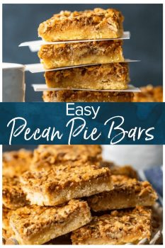 Pecan Pie Bars are just like the pie, but in an easier to eat bar form. I'll take pecan pie any way I can get it, so these are a favorite. This pecan bars recipe is the perfect Christmas dessert, or just any time you need a special treat!
