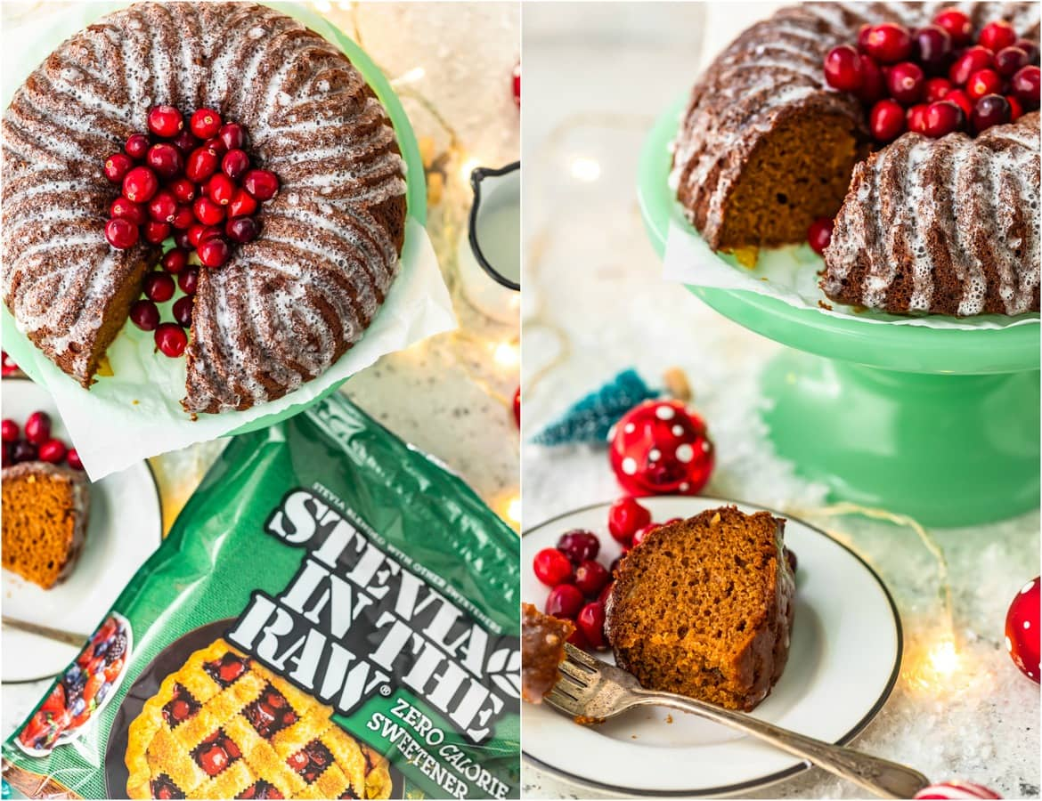photo collage of a gingerbread cake