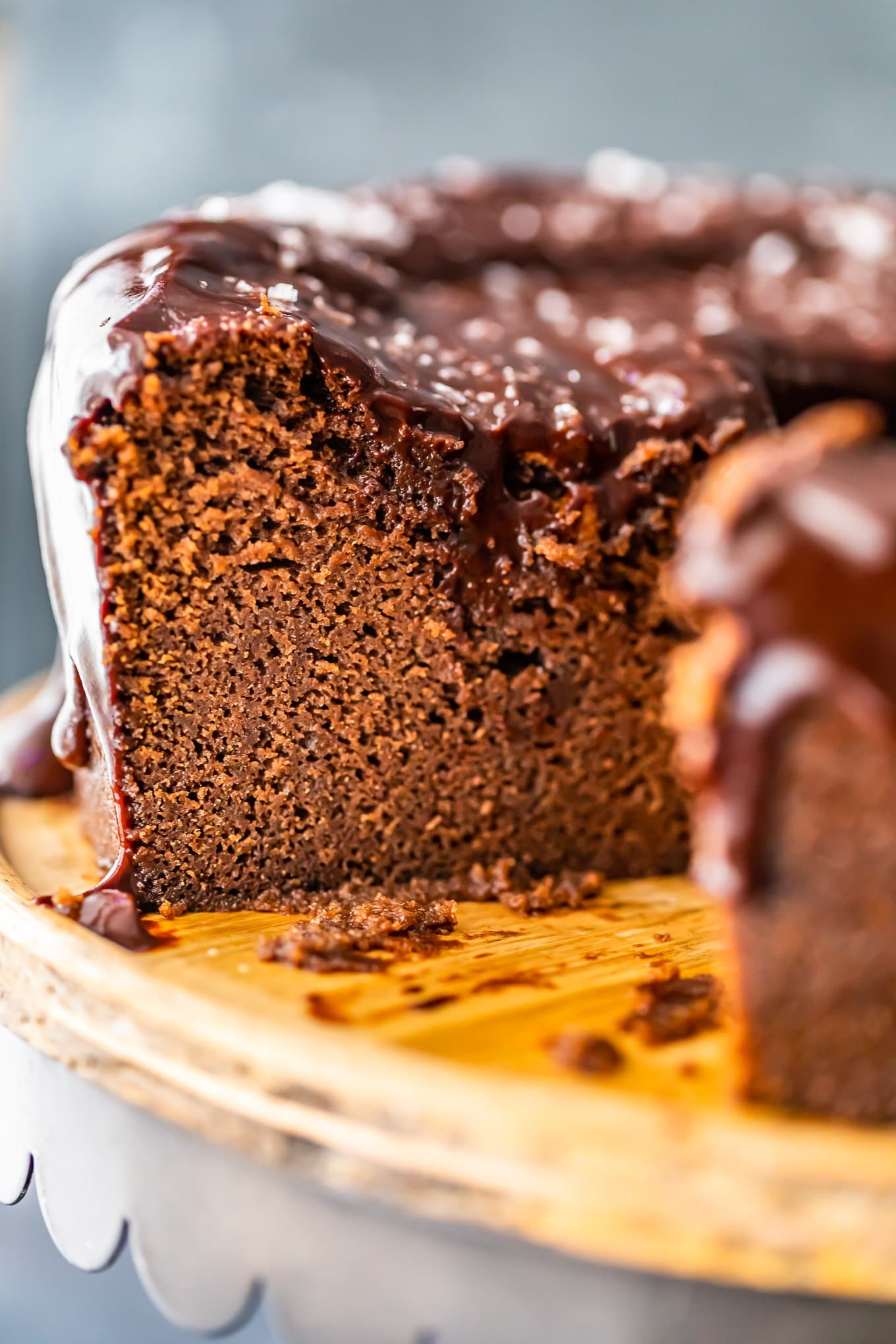 Velvet Chocolate Cake Recipe With Chocolate Ganache Icing