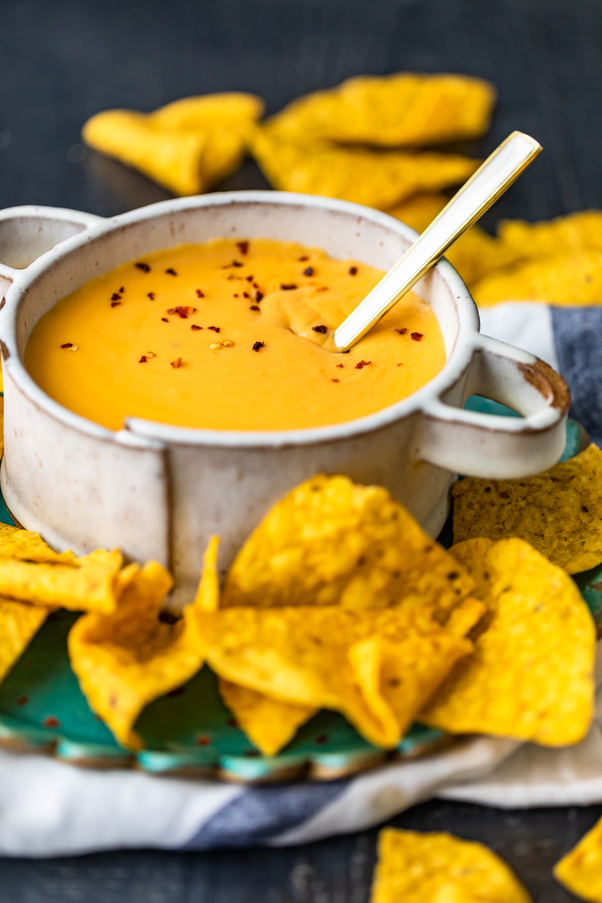 easy cheese dip recipe in a bowl